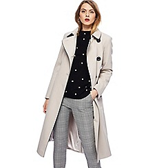 Principles - Ivory fit and flare coat