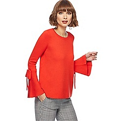 Principles - Red tie sleeves jumper