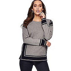 Principles - Grey border colour block jumper