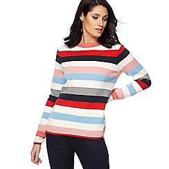 Principles - Multi-coloured striped print sweater