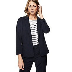 Principles - Navy ribbed ponte blazer