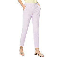 Principles - Lilac tapered leg trousers