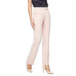 Principles Petite - Light pink straight leg petite suit trousers