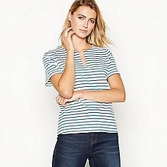 Principles - Dark turquoise striped top