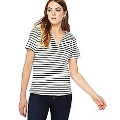 Principles - Black striped top