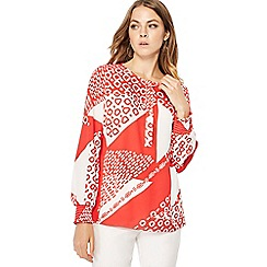 Principles - Ref scarf print long sleeve top