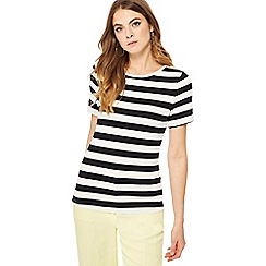 Principles - Black and white striped t-shirt