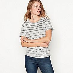Principles - Grey foil stripe print jersey t-shirt
