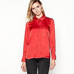 Principles - Red textured satin shirt