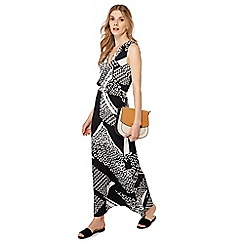 Principles - Black printed V-neck sleeveless maxi dress