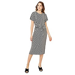 Principles - Black striped midi dress