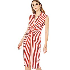 Principles - Red striped shirt midi dress