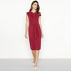 Principles - Red self-tie detail jersey midi dress