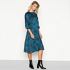 Principles - Blue floral print midi dress