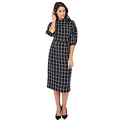 Principles - Black checked midi dress