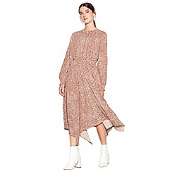 Principles - Tan midi length snake print dress