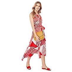 Principles - Red scarf print midi dress