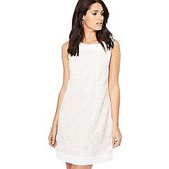 Principles - Ivory circle burnout sleeveless mini shift dress