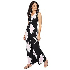 Principles - Black floral print V-neck sleeveless maxi dress