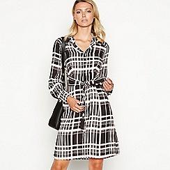 Principles - Pink check print knee length shirt dress