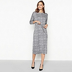 Principles - Grey Snake Print Drawcord Dress