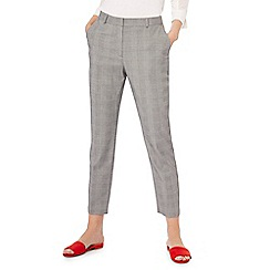 Principles - Grey checked print tailored trousers
