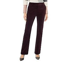 Principles - Dark purple corduroy bootcut trousers