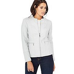 Principles - Grey quilted shoulder biker jacket