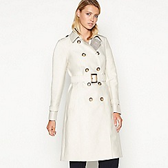 Principles - Cream checked lining rain resistant trench coat