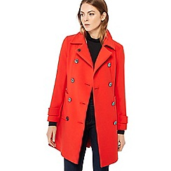 Principles - Red double breasted pea coat