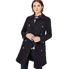Principles - Navy double breasted pea coat