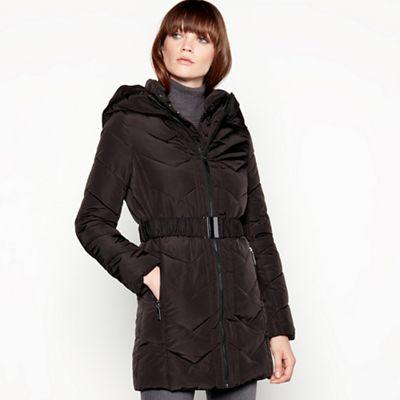 Principles Black double layered chevron padded coat  b799c3fff