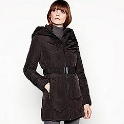 Principles - Black double layered chevron padded coat