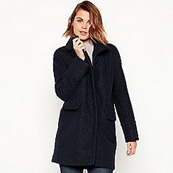 Principles - Navy boucle coat