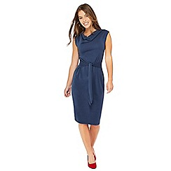 Principles Petite - Blue self tie detail jersey petite midi dress