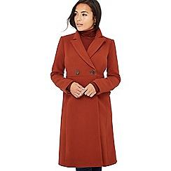 Principles Petite - Dark tan moulded petite city coat