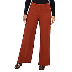 Principles Petite - Dark tan high waisted 'Tobacco' wide leg petite suit trousers