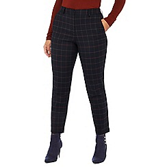 Principles Petite - Navy checked print tailored fit petite trousers