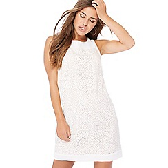 Principles Petite - Ivory circle burnout mini petite shift dress