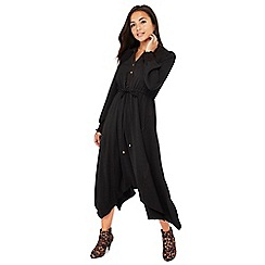 Principles Petite - Black contrast stitch midi petite dress