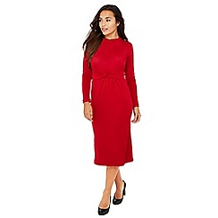 Principles Petite - Red twist front slinky jersey petite midi dress