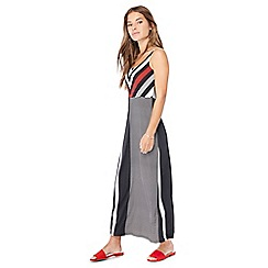 Principles Petite - Black chevron and striped petite maxi dress