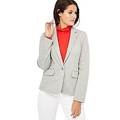 Principles - Grey ribbed ponte blazer