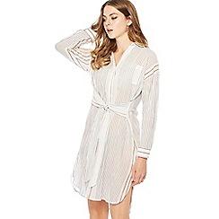 Principles - Multi-coloured stripe print mini length shirt dress