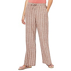 Principles - Multi-coloured stripe wide leg trousers