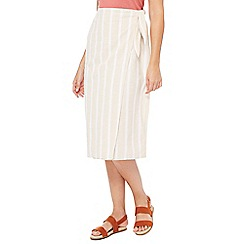 Principles - Multi-coloured stripe print wrap skirt