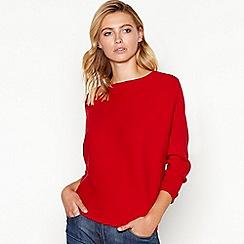 Principles - Red ribbed batwing sleeve jumper