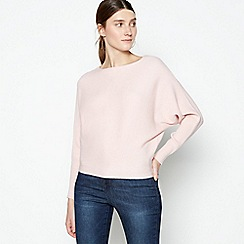 Principles - Pale Pink Ribbed Batwing Sleeve Jumper