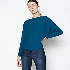 Principles - Dark Turquoise Ribbed Batwing Sleeve Jumper