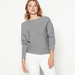 Principles - Grey ribbed batwing sleeve jumper